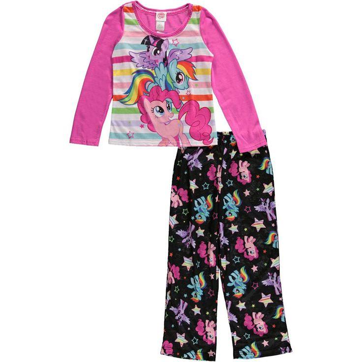 Girls My Little Pony 2-Piece Pajama Set - Pink Black