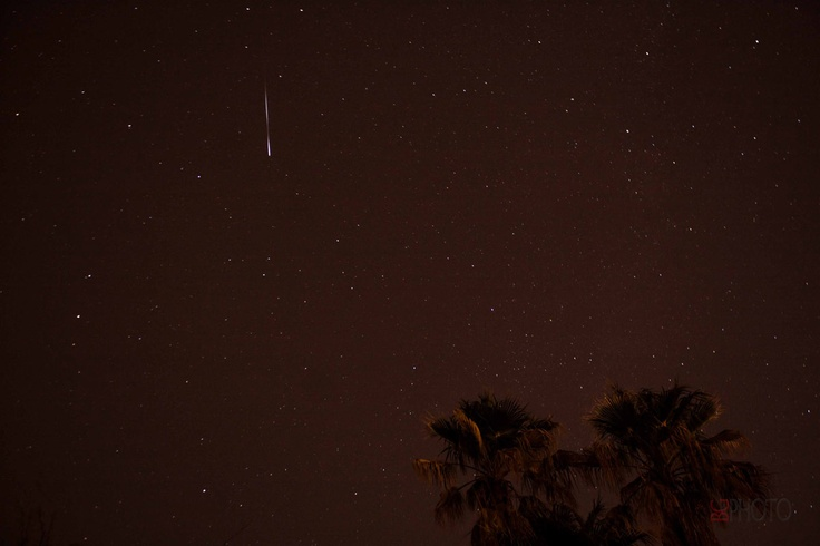 Astrophotographer B. G. Boyd sent in a photo of a Lyrid meteor over Tucson, Arizona, taken on April 22, 2013.