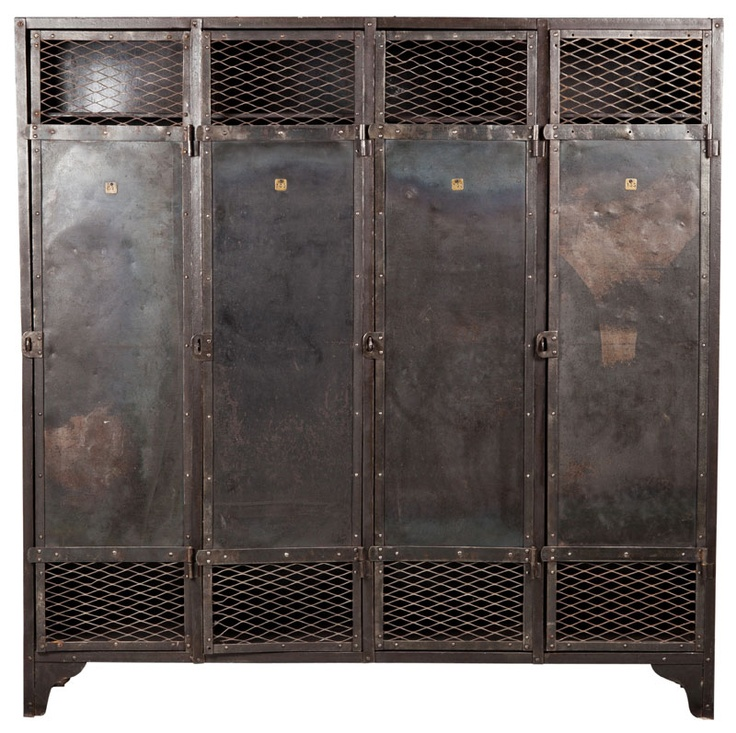 raw vintage locker wire mesh doors from belgiom circa 1930u0027s via wwwabchome - Employee Lockers