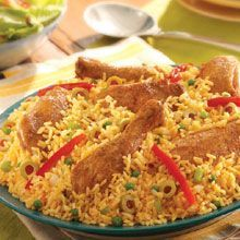 Chicken and Saffron Rice Crockpot Dish:  In search of one pot dinners I discovered this and plan to try out.  I think I will skip the olives and add carrots instead.