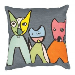 Expressive and colourful cushion cover spring 2014