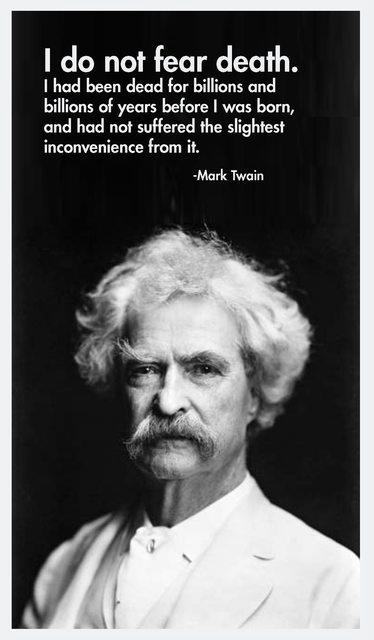 Mark Twain on death