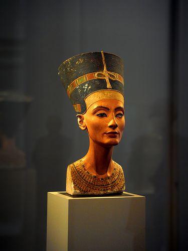Nefertiti. Bust. Museum. Egypt Museum. Berlin. Germany.
