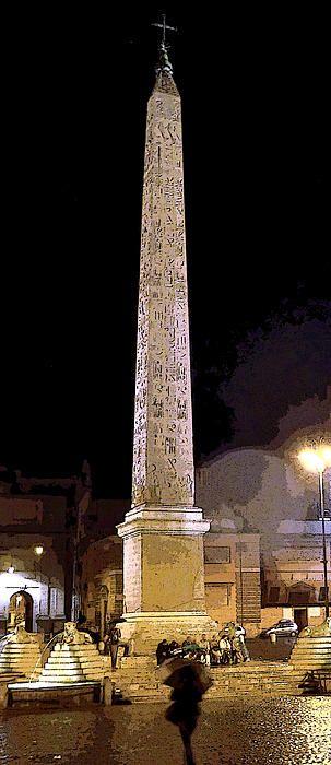 Cleopatras Needle in Rome Italy