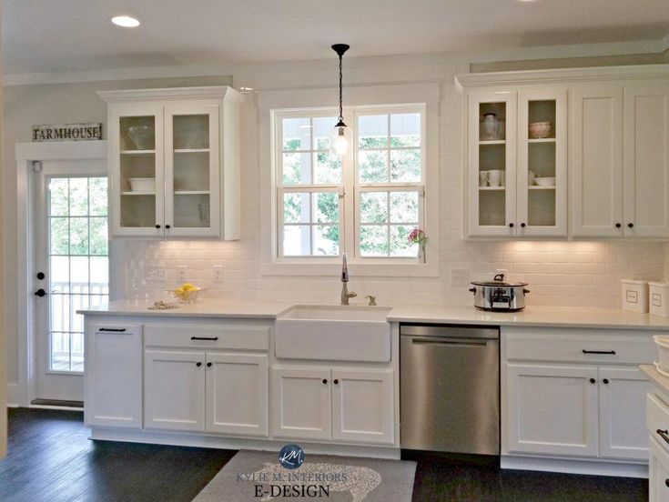 Best White Kitchen Bianco Drift Quartz Worldly Gray Walls 400 x 300