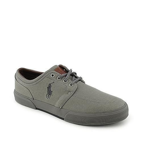 A perfect casual sneaker from the Polo Ralph Lauren collection. The Faxon Low features a low cut canvas upper, rubber outsole, lace up shaft, round toe front, stitching details, and a... More Details