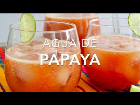 Agua de papaya (lechosa o mamón) con limón