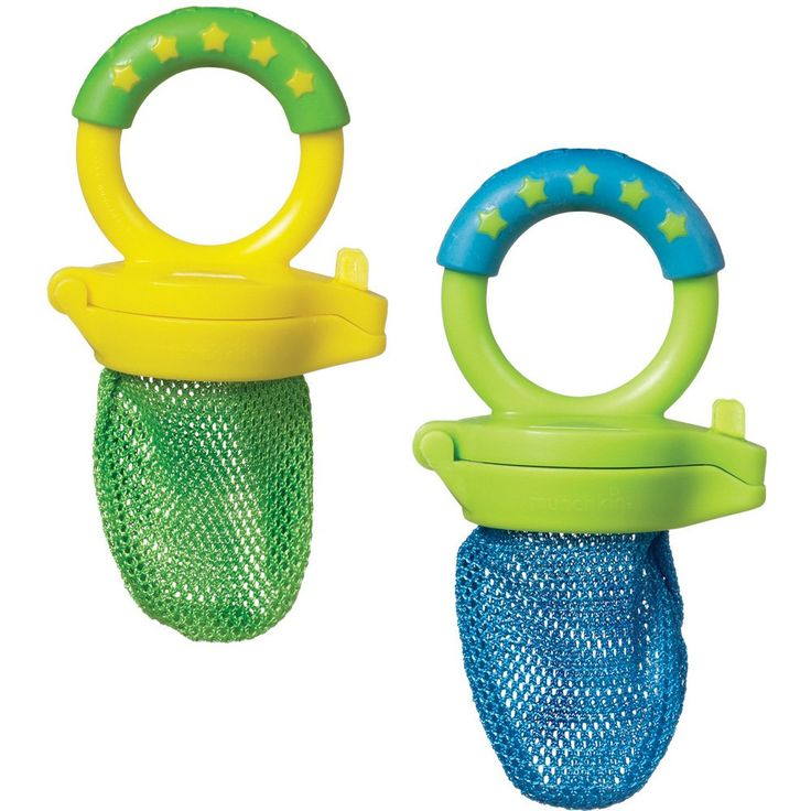 Munchkin Fresh Food Feeder, These are so fun! You put pieces of food that are easy to suck like bananas, cantaloupe, watermelon, etc in here and your baby learns to feed themself AND eat.