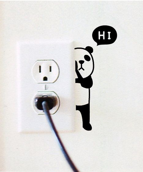 7 Light Switch Sticker / Wall Decal Sticker por DubuDumo en Etsy
