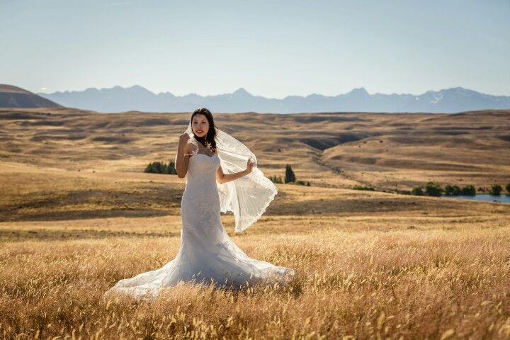 Love this lace edged veil. Mount Cook Wedding Photography  | Tekapo wedding photographer Mandy Caldwell Http://mandycaldwell.co.nz