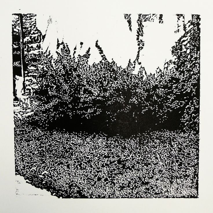 > Zlatovská 2191-29 [Back]  [printmaking, cutting into MDF] #printmaking #woodcut #bunker #art #shelters