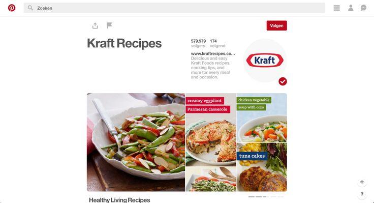 Op de Pinterest van Kraft vind je allemaal borden met leuke manieren om de producten van Kraft in je gerechten te mengen. De recepten zijn gemakkelijk en zien er goed uit, wat bijdraagt aan de populariteit van het merk. Meer via https://www.pinterest.com/kraftrecipes/