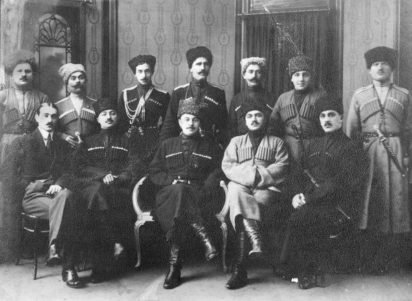 Leaders of the Mountainous Republic of the Northern Caucasus by  Unknown Artist