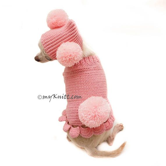 Pink Dog Clothes, Cute Bunny Pet Costume With Pom Pom Dog Hat ...
