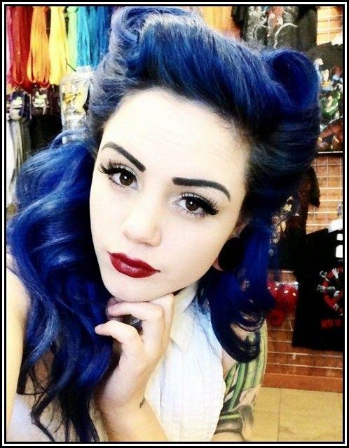 24 best images about Dark Blue Hair on Pinterest ...  Dark Navy Blue Hair Color
