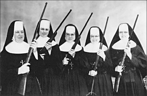 Nuns versus the Vatican? A post on the Vatican's Apostolic Visitation report on women religious in the US that includes a bonus gif of Arnold Schwarzenegger... #ChurchNews
