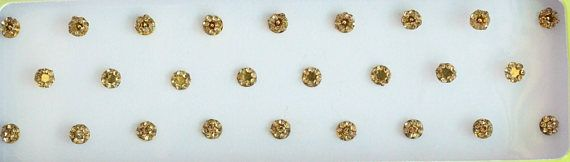 Gold Face Round Bindis Jewels Bridal Gold BindisStone