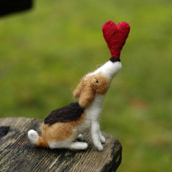 Needle Felted Unconditional Love