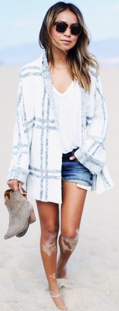 Fall Beach Outfit Idea by Sincerely Jules