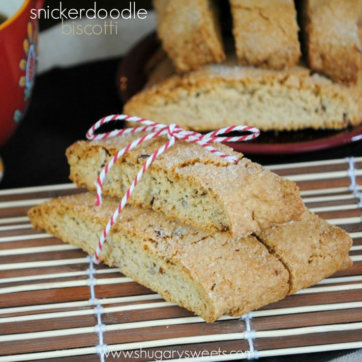Snickerdoodle Biscotti - Shugary Sweets