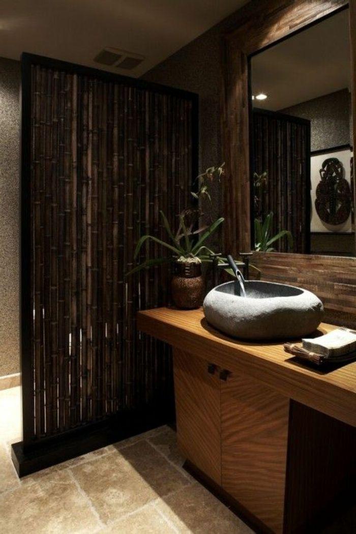 Les 25 meilleures id es de la cat gorie salle de bain en bambou sur pinterest toilette - Decoration salle de bain zen bambou ...