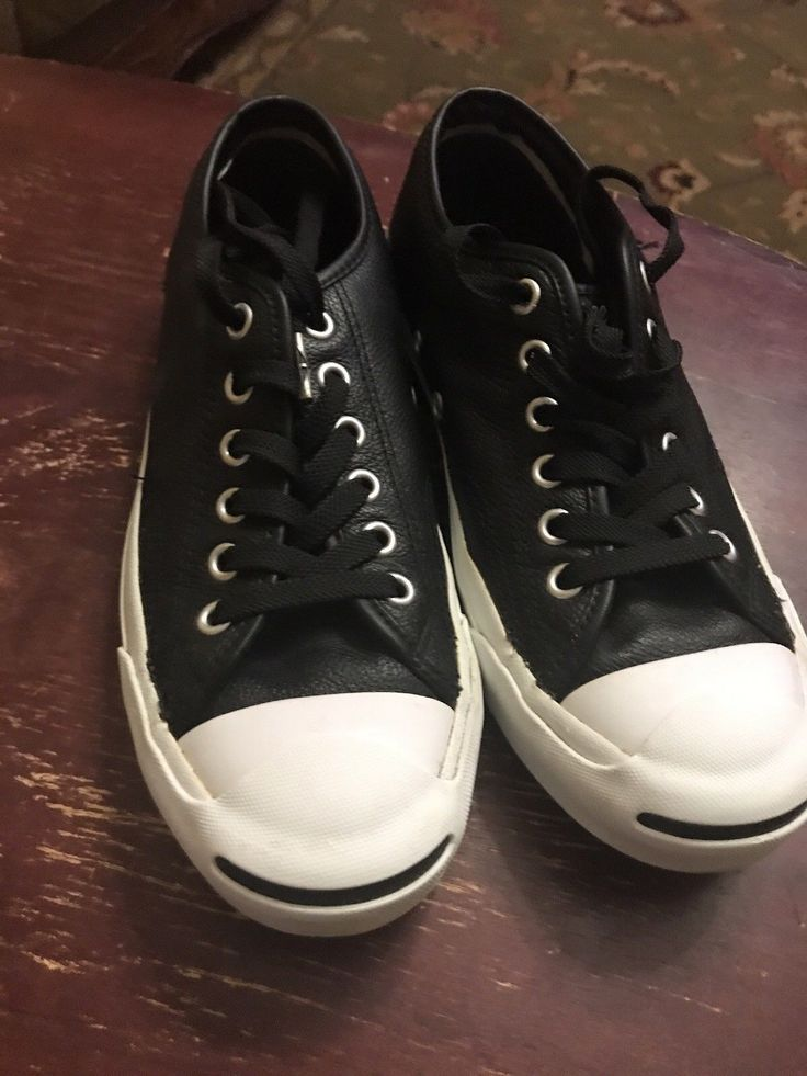 Jack Purcell Black Leather Converse Womens Size 6.5,Used But Mint.. Condition is Pre-owned. Shipped with USPS Priority Mail.   eBay!
