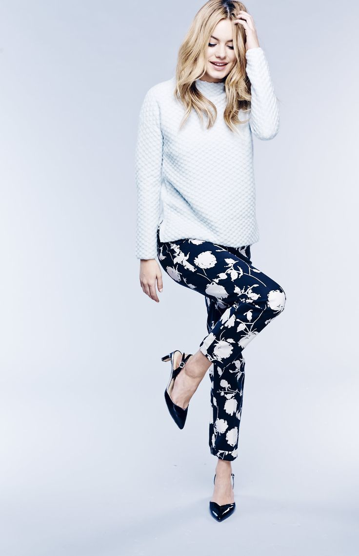 Boden Tilly Jumper, Chelsea Trousers and Millie Slingbacks. #SS15