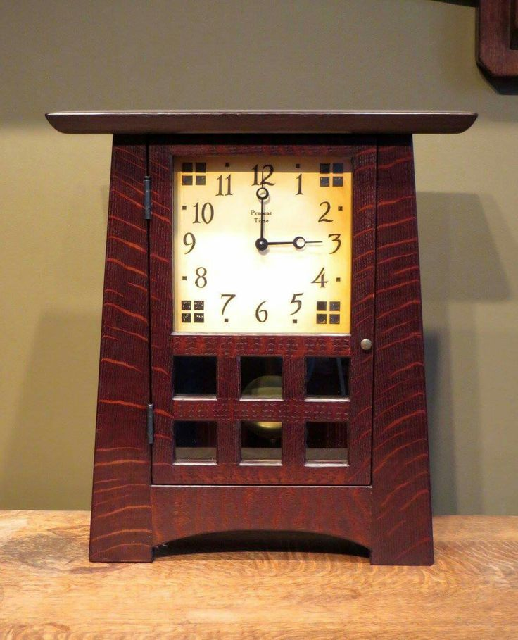 17 best images about arts crafts clocks on pinterest for Arts and crafts mantle clock