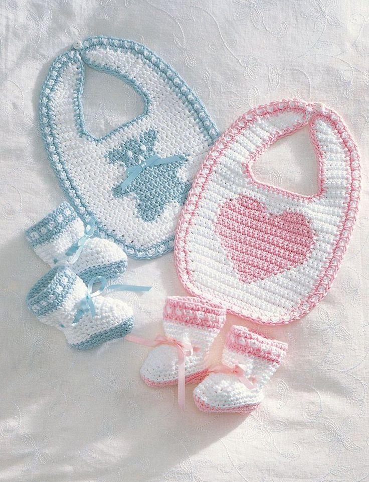Bernat Crochet Baby Bib Pattern : 44 best images about Babero tejido on Pinterest Filet ...