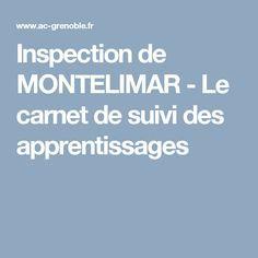 Inspection de MONTELIMAR - Le carnet de suivi des apprentissages