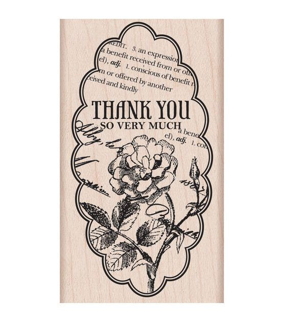 """hero arts mounted rubber stamps 2""""x325"""" thank you so very"""