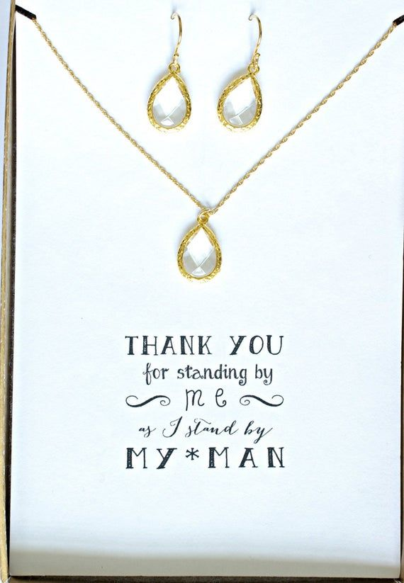 Bridesmaid Blue Jewelry MP6 Bridesmaid Gold Necklace Earring Set Set of 6 Navy Blue Necklace and Earrings Set Gold Gifts for Bridesmaids