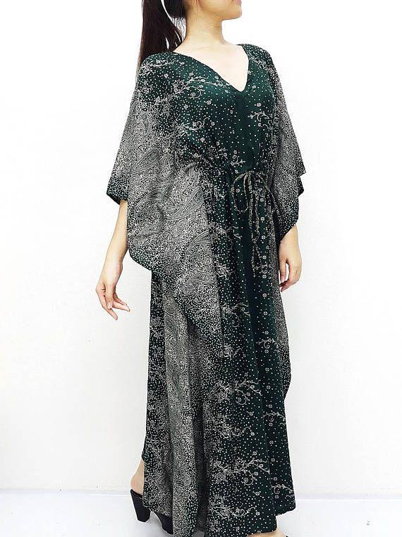 Plus Size, V neck, Rayon Kaftan, Beach Kaftan, #clothing #women #dress @EtsyMktgTool http://etsy.me/2yiVgiK