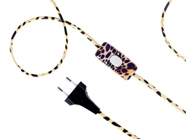 """Decorated electric cable """"Sauvage"""" / Fil électrique décoré """"sauvage"""""""