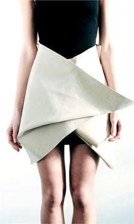 Graphic Folds - sculptural fashion design detail // Vladimir Karaleev