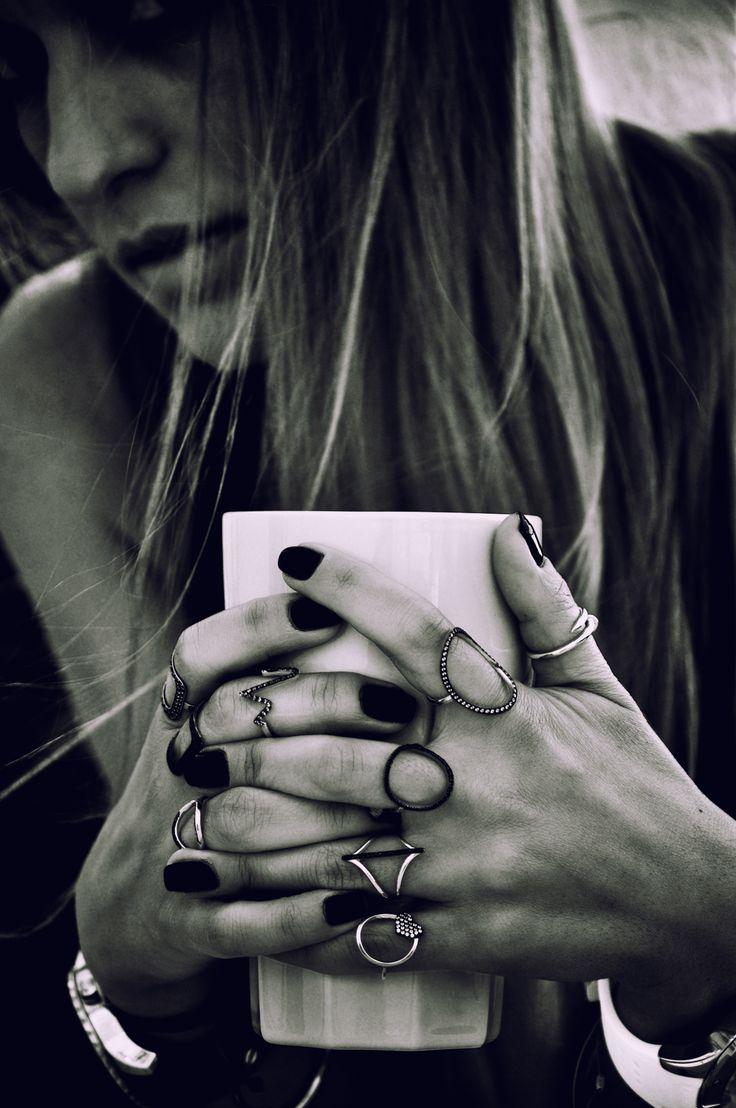 ...her rings!