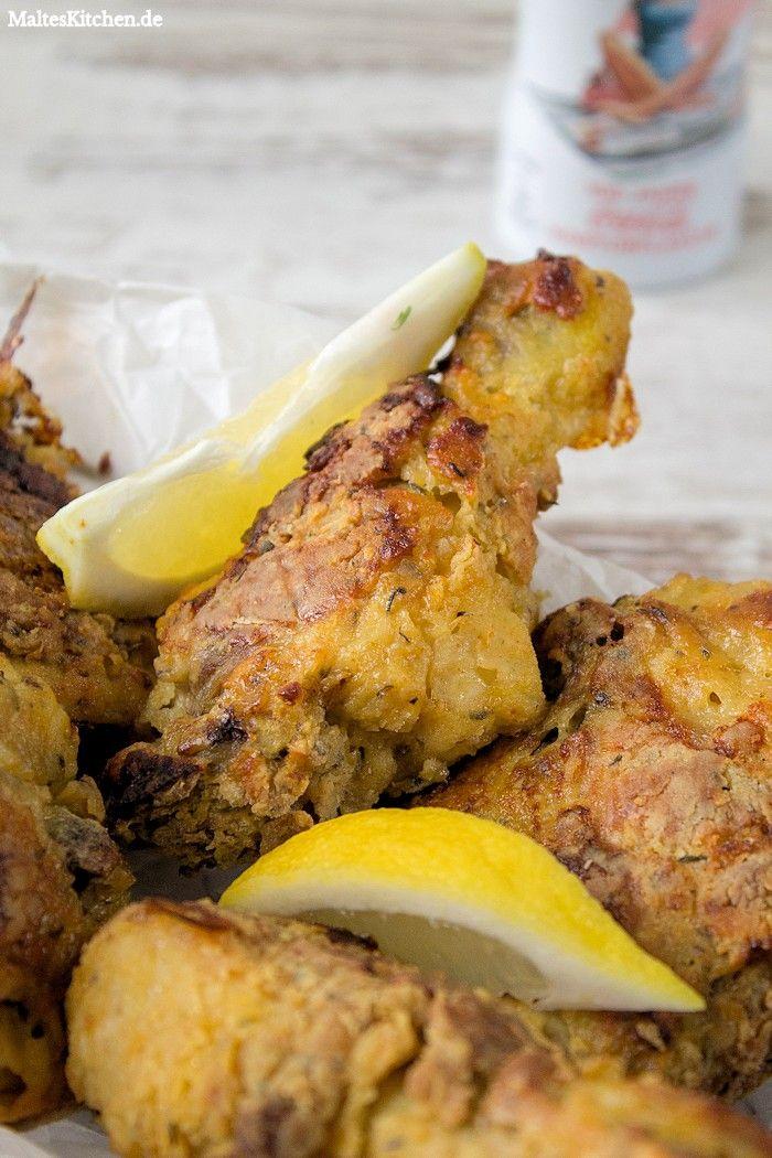 Backhähnchen aus dem Ofen,mit Zitronenscheiben servieren