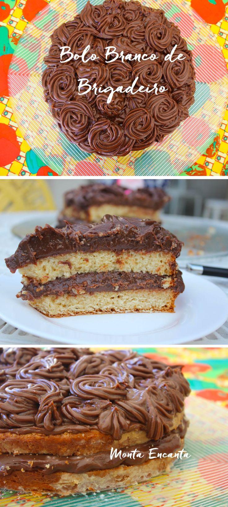 Bolo de Brigadeiro - Acabaram todas as desculpas para você não ir para cozinha preparar o próximo bolo do parabéns! Este Bolo Branco de Brigadeiro de Chocolate, tem massa amanteigada bem macia é super …