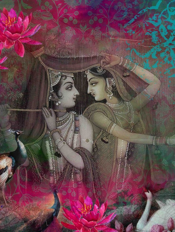 Radha – Krishna Divine Love..!! Lord Krishna has placed the importance and esteem of his love Radha so high that he told his devotees her name will always be taken before his name.