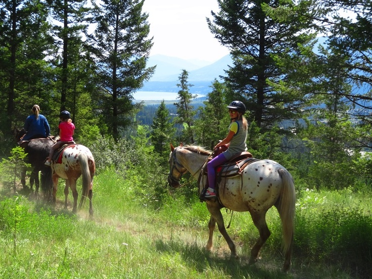 Horseback riding in the Columbia Valley