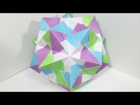 【ユニット折り紙】あこーどすけB30枚組【立体折り紙】32 - YouTube