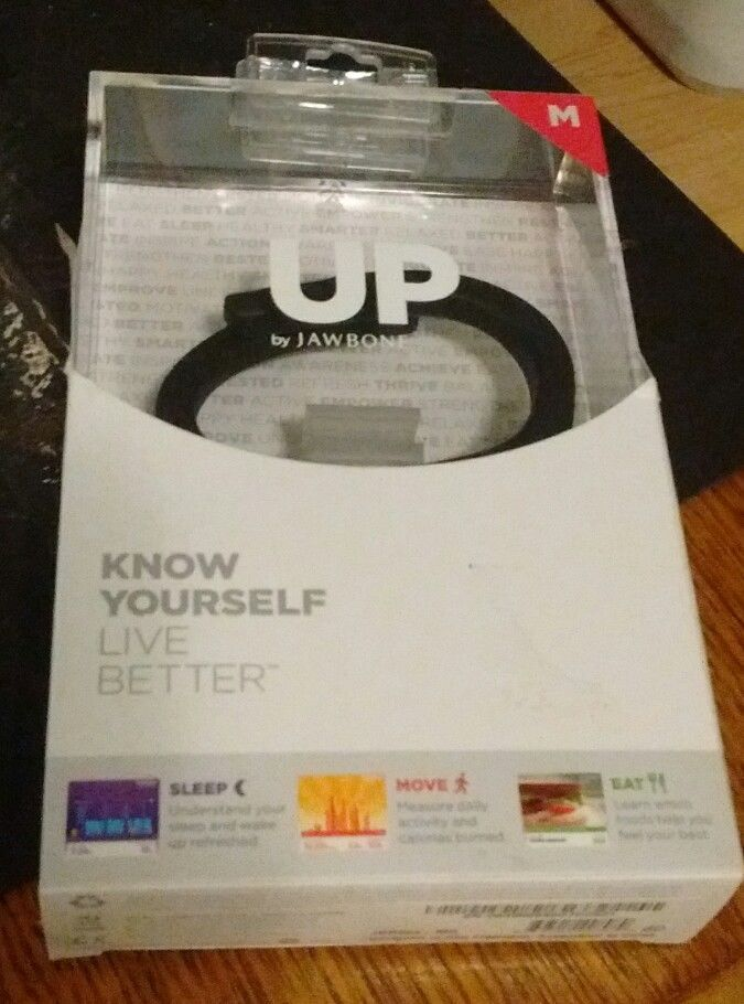 UP by JAWBONE Wireless Activity Tracker Onyx (Black) Medium Size KNOW YOURSELF  #Jawbone