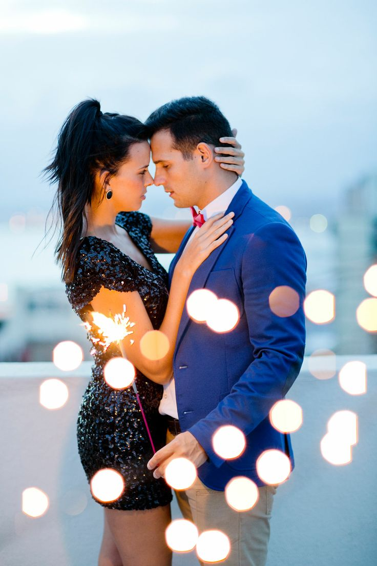 Rooftop cocktail glam e-session, fairy lights, sparklers, young love, couple session photography