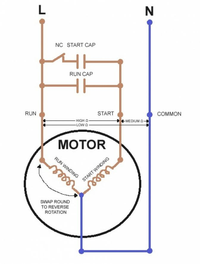 Wiring Diagram For 220 Volt Single Phase Motor - bookingritzcarlton.info |  Ac capacitor, Electrical circuit diagram, Refrigerator compressorPinterest