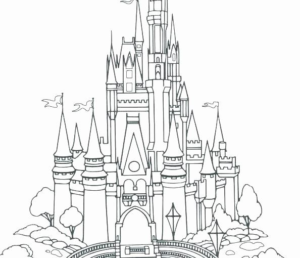 Disney Castle Coloring Page Luxury Disney Cinderella Castle Coloring Pages 15 Linea Castle Coloring Page Princess Coloring Pages Disney Princess Coloring Pages