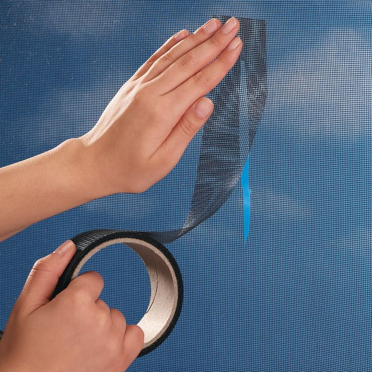 Window screen repair tape from Miles Kimball saves time and money. Screen tape is fiberglass screen material: covers tears instantly, blends seamlessly.