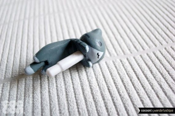 SALE30OFF Cute Crouching Kitten iPhone Plug  Phone by CocoonByWL, $4.20