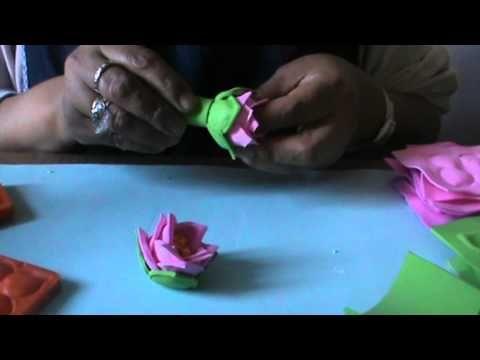 fiori in gomma crepla-foammy - YouTube
