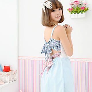 YESSTYLE.com -Bow-Back Sleeveless Dress