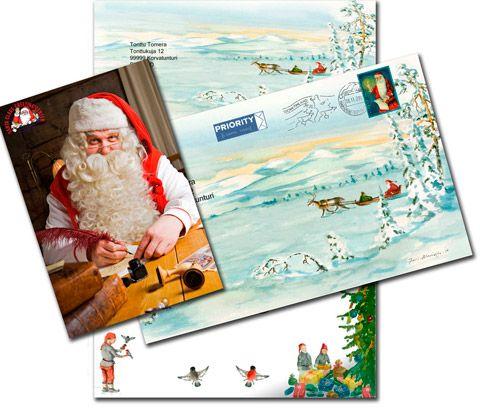 Ein echter Brief vom Weihnachtsmann in Lappland